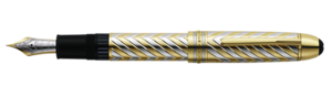 Montblanc Solid Gold Meisterstuck Pen White And Yellow 02246 [c822]