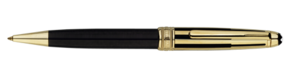 Montblanc Solitaire Doue Gold And Black Meisterstuck Pen 35988 [ac63]