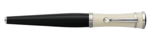 Montblanc Special Edition Greta Garbo Fountain Pen Black And Cream 36120 [c2cc]