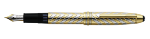 Montblanc Meisterstuck Solid Gold Pen White And Yellow 02271 [d80a]