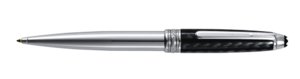 Montblanc Carbon And Steel Meisterstuck Ballpoint Pen Silver 05834 [59b0]