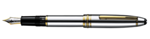 Montblanc Platina Meisterstuck Fountain Pen Silver 18010 [ab3c]
