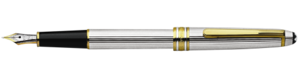 Montblanc Meisterstuck Sterling Silver Fountain Pen 11738 [ee44]