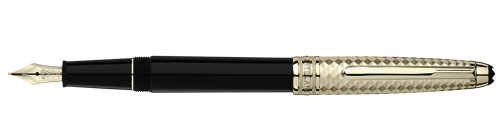 Montblanc Doue Geometric Dimension Meisterstuck Pen Black And Champagne-Tone Gold 105986 [1806]
