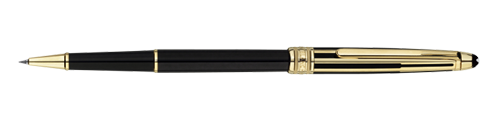 Montblanc Solitaire Doue Ouro e preto Meisterstuck Pen 35989 [f109]