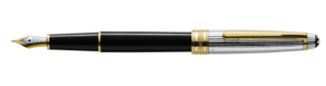 Montblanc Meisterstuck Doue Sterling Silver Fountain Pen Preto 17313 [2afc]